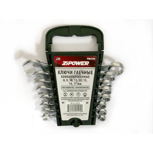 Ключ гаечный комбинированный ZipowerКлючи гаечные<br>Тип: комбинированный, Размер ключа минимальный: 8, Размер ключа максимальный: 17<br>