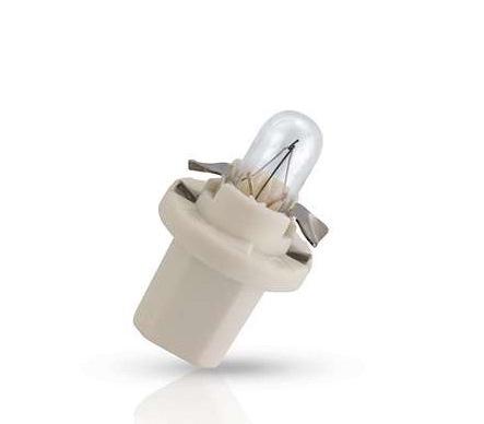 Лампа автомобильная PhilipsЛампы автомобильные<br>Тип лампы: накаливания,<br>Типоразмер: BAX,<br>Тип цоколя: BX8.5D,<br>Мощность: 1.12,<br>Напряжение: 12,<br>Цвет: белый<br>