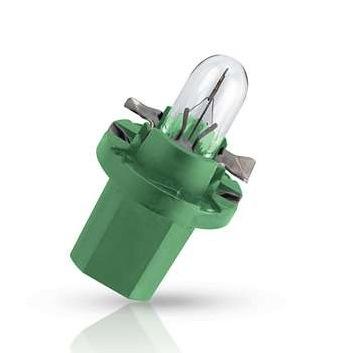 Лампа автомобильная Philips - PhilipsЛампы автомобильные<br>Тип лампы: накаливания,<br>Типоразмер: BAX,<br>Тип цоколя: BAX8.5d/2,<br>Мощность: 2,<br>Напряжение: 12,<br>Цвет: зеленый<br>