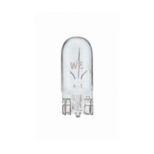 Лампа автомобильная PhilipsЛампы автомобильные<br>Тип лампы: накаливания,<br>Типоразмер: W3W,<br>Тип цоколя: W2.1x9.5d,<br>Мощность: 3,<br>Напряжение: 24<br>