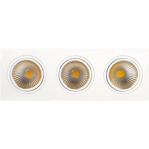 Светильник Horoz electricСветильники встраиваемые<br>Стиль светильника: современный, Форма светильника: прямоугольник, Количество ламп: 3, Тип лампы: светодиодная, Мощность: 10, Патрон: LED, Цвет арматуры: белый<br>