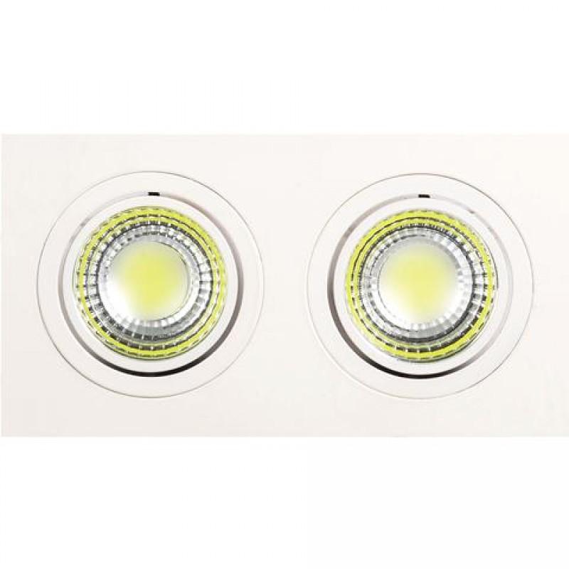 Светильник Horoz electricСветильники встраиваемые<br>Стиль светильника: современный,<br>Форма светильника: прямоугольник,<br>Количество ламп: 2,<br>Тип лампы: светодиодная,<br>Мощность: 5,<br>Патрон: LED,<br>Цвет арматуры: белый<br>