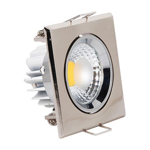 Светильник Horoz electricСветильники встраиваемые<br>Стиль светильника: современный,<br>Форма светильника: квадрат,<br>Тип лампы: светодиодная,<br>Мощность: 3,<br>Патрон: LED,<br>Цвет арматуры: хром<br>