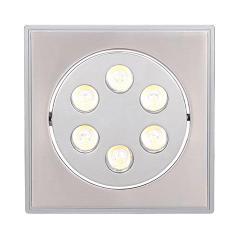 Светильник Horoz electricСветильники встраиваемые<br>Стиль светильника: современный,<br>Форма светильника: квадрат,<br>Тип лампы: светодиодная,<br>Мощность: 6,<br>Патрон: LED,<br>Цвет арматуры: матовый хром<br>