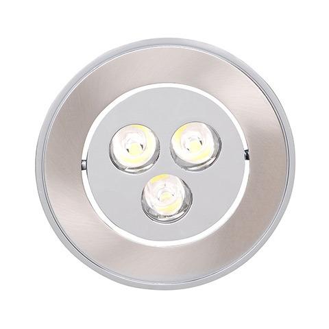 Светильник Horoz electricСветильники встраиваемые<br>Стиль светильника: современный,<br>Форма светильника: круг,<br>Тип лампы: светодиодная,<br>Мощность: 3,<br>Патрон: LED,<br>Цвет арматуры: матовый хром<br>