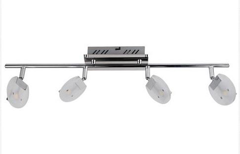 Спот Horoz electricСпоты<br>Тип: спот,<br>Стиль светильника: модерн,<br>Материал светильника: металл, стекло,<br>Количество ламп: 4,<br>Тип лампы: светодиодная,<br>Мощность: 3,<br>Патрон: LED,<br>Цвет арматуры: хром<br>