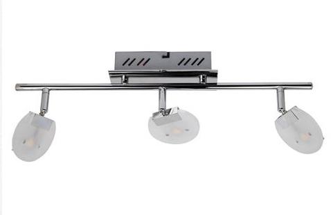 Спот Horoz electricСпоты<br>Тип: спот, Стиль светильника: модерн, Материал светильника: металл, стекло, Количество ламп: 3, Тип лампы: светодиодная, Мощность: 3, Патрон: LED, Цвет арматуры: хром<br>