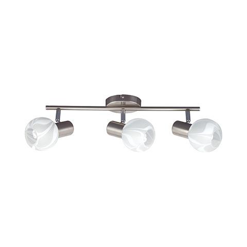 Спот Horoz electricСпоты<br>Тип: спот,<br>Стиль светильника: модерн,<br>Материал светильника: металл, стекло,<br>Количество ламп: 3,<br>Тип лампы: накаливания и светодиодные,<br>Мощность: 9,<br>Патрон: Е14,<br>Цвет арматуры: матовый хром<br>