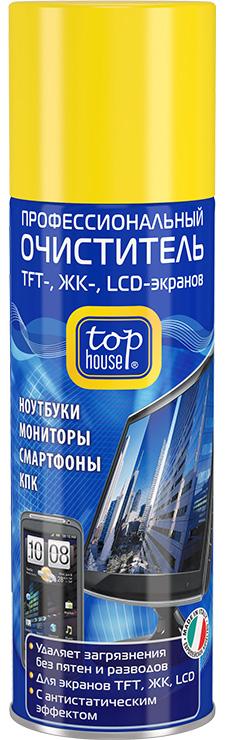 Очиститель Top houseМоющие и чистящие средства<br>Назначение: для экранов,<br>Тип: очиститель,<br>Объем (мл): 0.2<br>