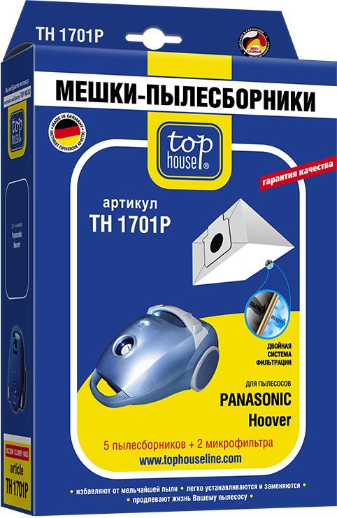 Мешок Top houseАксессуары для бытовых пылесосов<br>Тип: мешок,<br>Назначение: для PANASONIC,<br>Количество слоев: 2<br>