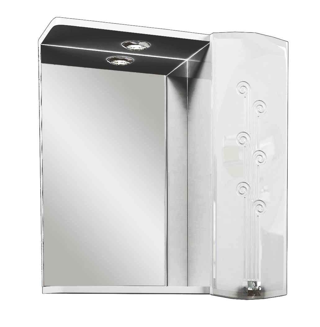Зеркальный шкаф AqualifeМебель для ванной комнаты<br>Тип: шкаф, Тип установки мебели для ванной: подвесной, Материал изготовления мебели для ванной: дсп, Зеркало: есть, Цвет мебели для ванной: белый, Вес нетто: 17.9<br>
