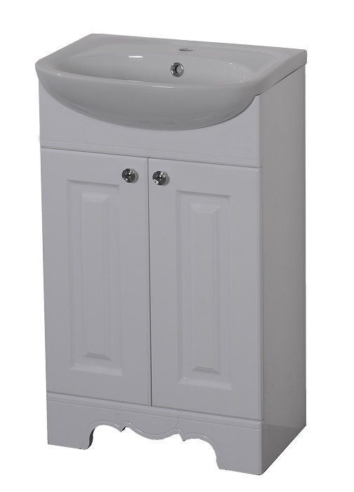 Раковина с тумбой Aqualife designМебель для ванной комнаты<br>Тип: тумба с раковиной,<br>Тип установки мебели для ванной: напольный,<br>Материал изготовления мебели для ванной: дсп,<br>Ширина: 500,<br>Цвет мебели для ванной: белый,<br>С ящиками: есть,<br>Вес нетто: 12.9<br>