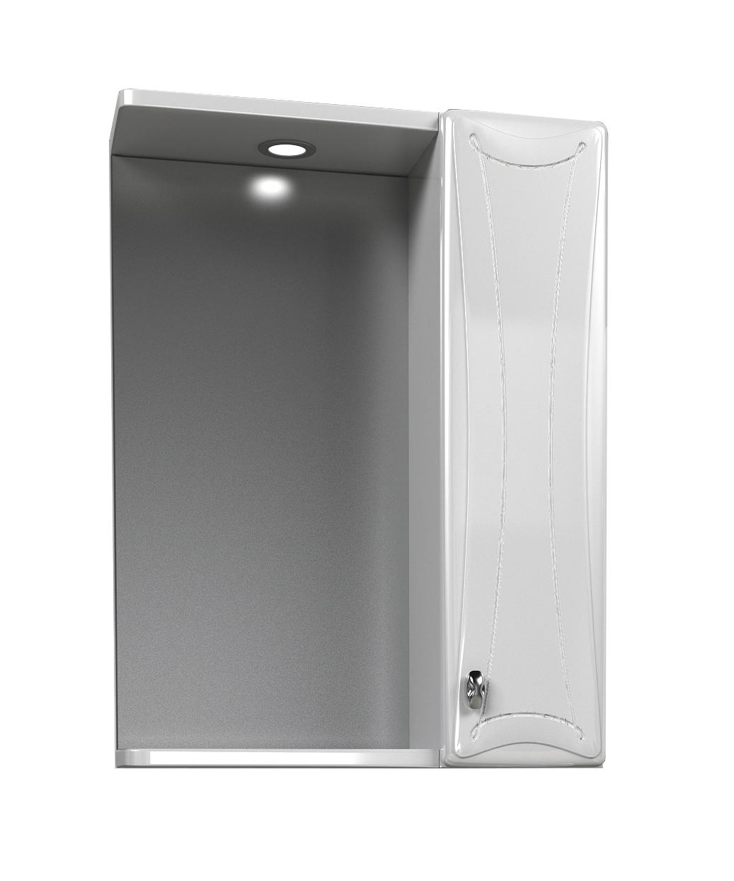 Зеркальный шкаф Aqualife designМебель для ванной комнаты<br>Тип: шкаф, Тип установки мебели для ванной: подвесной, Материал изготовления мебели для ванной: дсп, Зеркало: есть, Цвет мебели для ванной: белый, Вес нетто: 15.2<br>