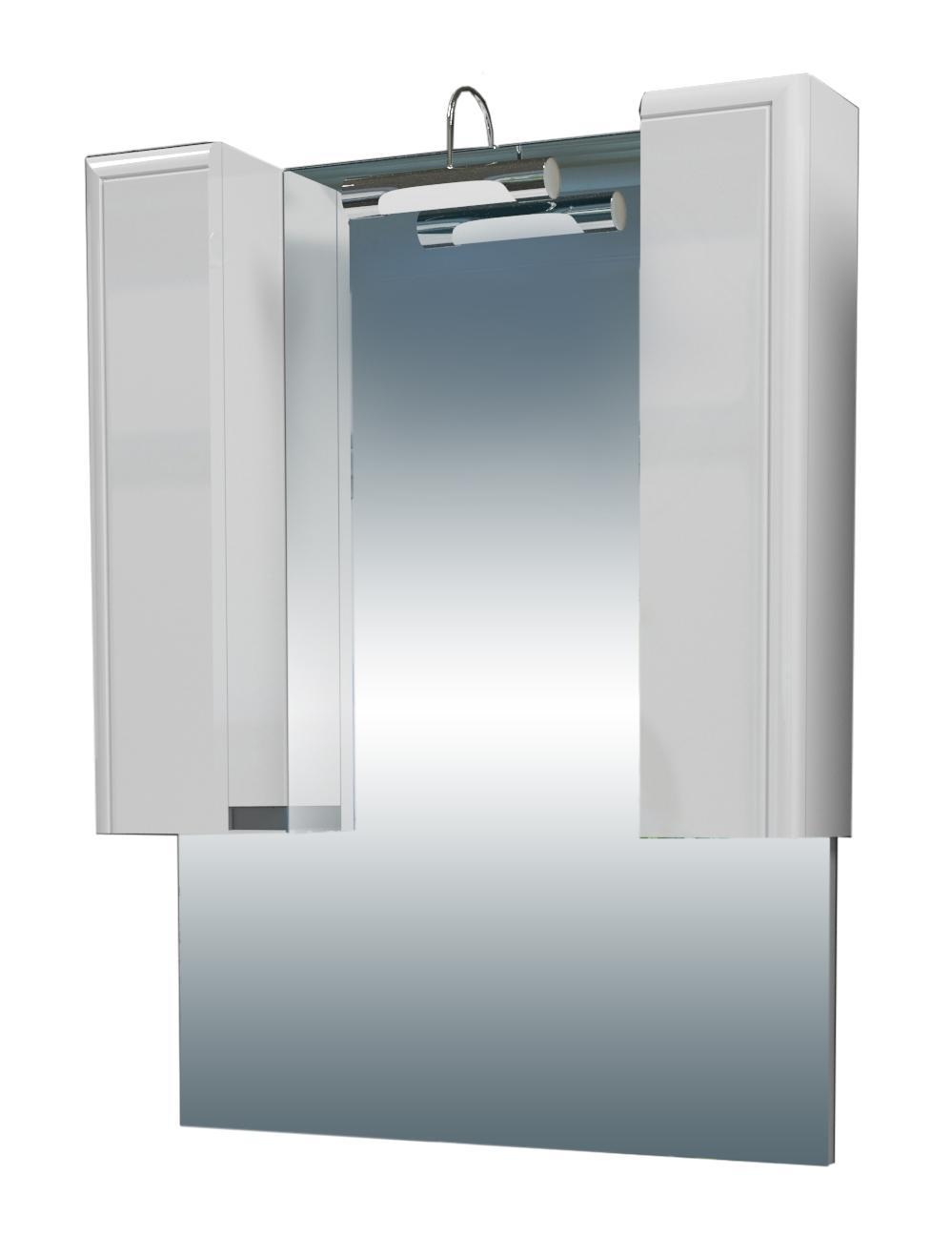 Зеркальный шкаф EdelformМебель для ванной комнаты<br>Тип: шкаф,<br>Тип установки мебели для ванной: подвесной,<br>Материал изготовления мебели для ванной: дсп,<br>Зеркало: есть,<br>Цвет мебели для ванной: белый,<br>Вес нетто: 23.5<br>