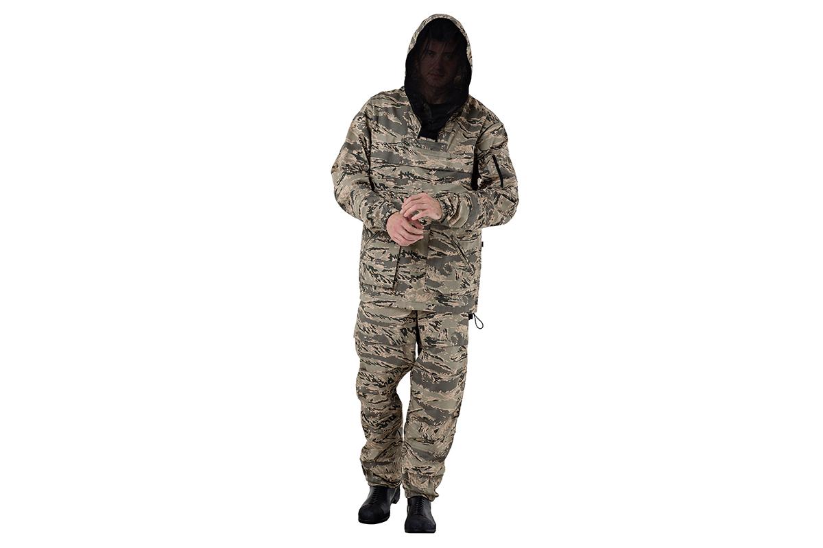 Костюм AmparoКостюмы<br>Тип: куртка и брюки,<br>Размер: 52-54/170-176,<br>Пол: мужской,<br>Сезон: демисезон,<br>Материал: ткань,<br>Плотность ткани: 210,<br>Цвет костюма: комуфляжный<br>