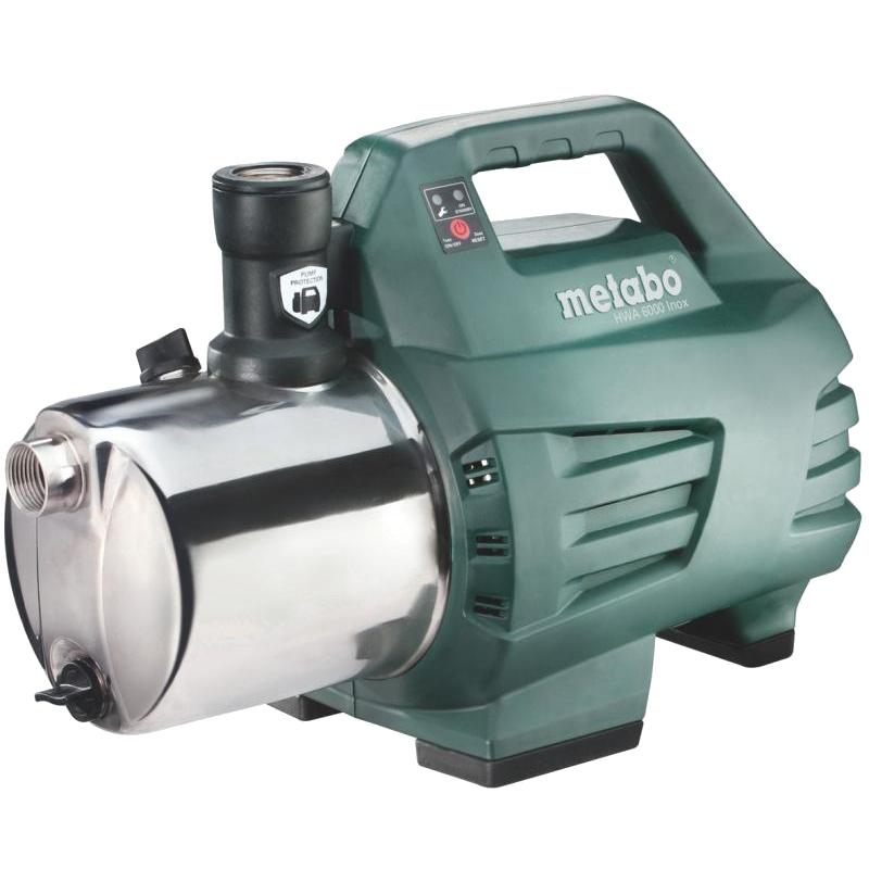 Насосная станция Metabo - MetaboНасосные станции<br>Мощность: 1300,<br>Назначение насоса: чистая вода,<br>Макс. производительность по воде: 6000,<br>Тип насоса: поверхностный,<br>Мин. давление: 1.4,<br>Макс. давление: 5.5,<br>Макс. глубина: 8,<br>Макс. высота: 55,<br>Защита от включения без воды: есть,<br>Диаметр всасывающего шланга: 1,<br>Диаметр на выходе (в дюймах): 1,<br>Длина кабеля: 1.5,<br>Вес нетто: 13<br>