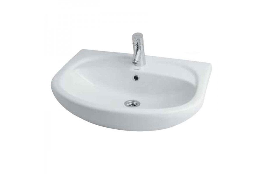 Раковина для ванной АКВАТОН - АКВАТОНРаковины (умывальники)<br>Тип: раковина,<br>Назначение умывальника(раковины): для ванной,<br>Ширина: 650,<br>Глубина: 500,<br>Форма раковины: полукруглая,<br>Цвет: белый,<br>Отверстие под смеситель: да,<br>Материал: санфаянс,<br>С тумбой: нет,<br>Тип установки раковины: врезной<br>