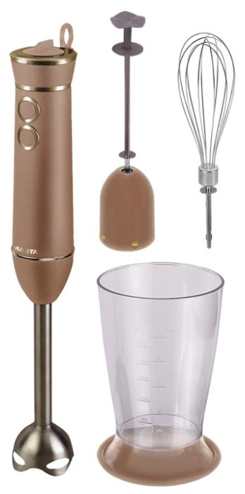 Блендер MartaБлендеры<br>Тип: погружной,<br>Мощность: 800,<br>Управление: механическое,<br>Материал корпуса: пластик,<br>Материал погружной части: пластик,<br>Вес нетто: 1.2<br>