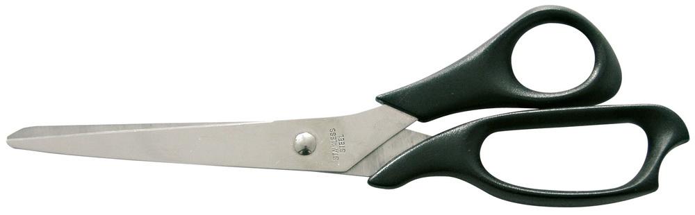 Ножницы MegaНожницы ручные<br>Тип: прямые,<br>Длина (мм): 215,<br>Материал губок: сталь<br>