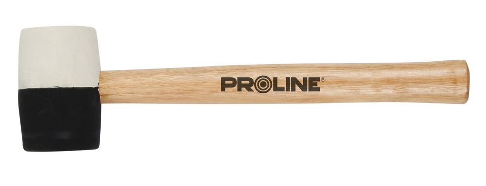 Киянка ProlineКиянки<br>Вес нетто: 0.58,<br>Материал бойка: резина,<br>Материал рукоятки: древесина,<br>Форма бойка: прямоугольник<br>