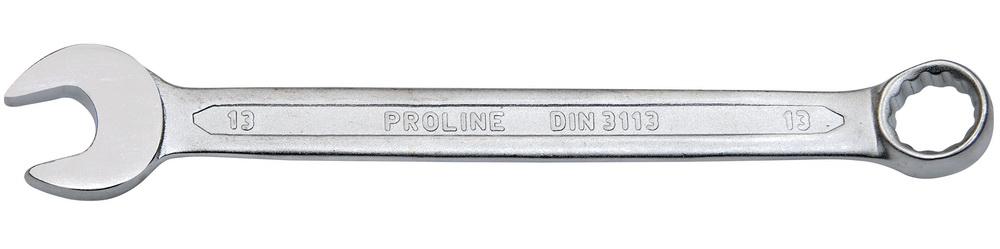 Ключ гаечный комбинированный ProlineКлючи гаечные<br>Тип: комбинированный,<br>Размер ключа минимальный: 21,<br>Размер ключа максимальный: 21<br>