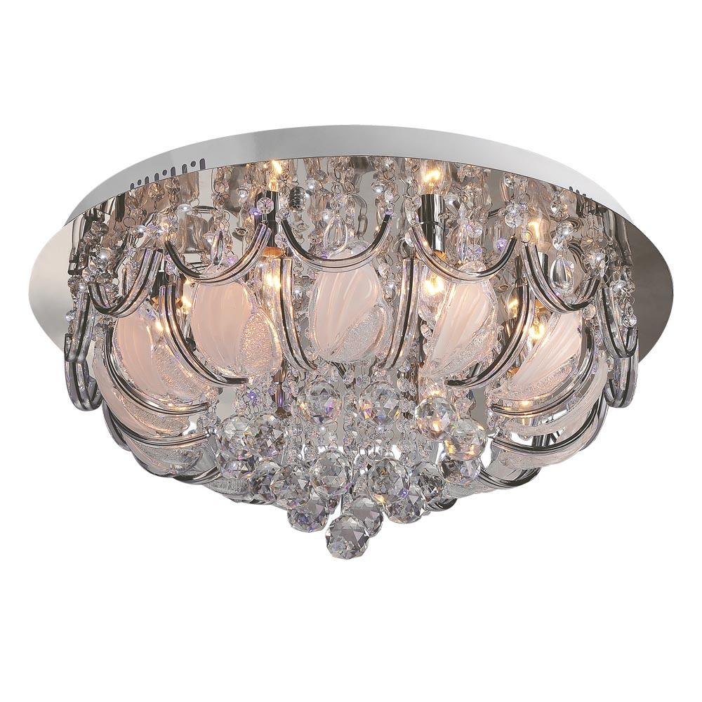 Люстра МАКСИСВЕТЛюстры<br>Назначение светильника: для гостиной, Стиль светильника: модерн, Тип: потолочная, Материал светильника: стекло, металл, Материал арматуры: металл, Количество ламп: 10, Тип лампы: накаливания, Мощность: 40, Патрон: Е14, Пульт ДУ: есть, Цвет арматуры: хром, Родина бренда: Россия, Коллекция: 1992<br>