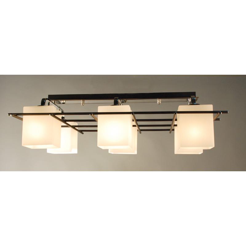 Люстра CitiluxЛюстры<br>Назначение светильника: для гостиной,<br>Стиль светильника: модерн,<br>Тип: потолочная,<br>Материал светильника: металл, стекло,<br>Длина (мм): 810,<br>Ширина: 450,<br>Высота: 250,<br>Количество ламп: 6,<br>Тип лампы: накаливания,<br>Мощность: 75,<br>Патрон: Е27,<br>Цвет арматуры: хром/венге<br>