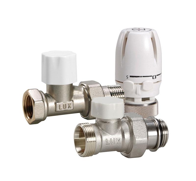 Термостатический комплект LuxorКомплектующие для радиаторов<br>Назначение: для подключения радиатора<br>