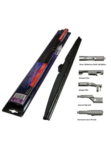 Щётка стеклоочистителя гибридная AvantechЩётки стеклоочистителя<br>Тип: щетка стеклоочистителя,<br>Конструкция щётки: гибридная,<br>Длина (мм): 430<br>