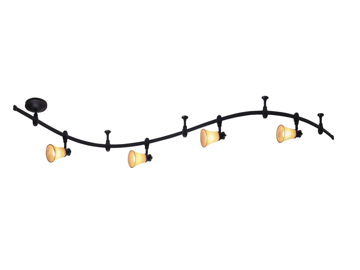 Трек система CitiluxТрек системы<br>Тип: трек-система, Стиль светильника: модерн, Количество ламп: 4, Тип лампы: накаливания, Мощность: 60, Патрон: Е14, Цвет арматуры: коричневый<br>