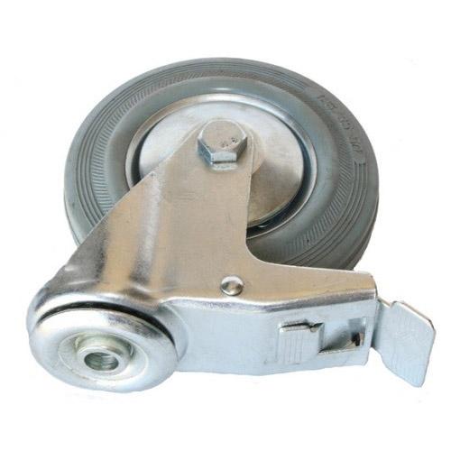 Колесо Swd proffПринадлежности для складского оборудования<br>Тип: колесо,<br>Материал: резина,<br>Диаметр колес, мм: 125,<br>Способ крепления: под болт,<br>Поворот: есть<br>