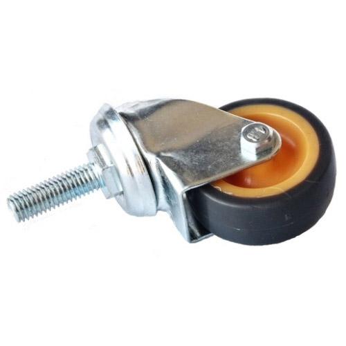 Колесо Swd proffПринадлежности для складского оборудования<br>Тип: колесо,<br>Материал: резина,<br>Диаметр колес, мм: 75,<br>Способ крепления: болтовой,<br>Поворот: есть<br>
