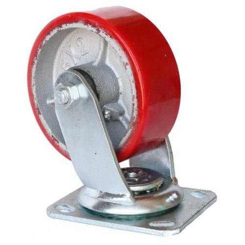 Колесо Swd proffПринадлежности для складского оборудования<br>Тип: колесо,<br>Материал: чугун,<br>Тип колеса: большегрузное,<br>Диаметр колес, мм: 100,<br>Способ крепления: платформенный,<br>Поворот: есть<br>