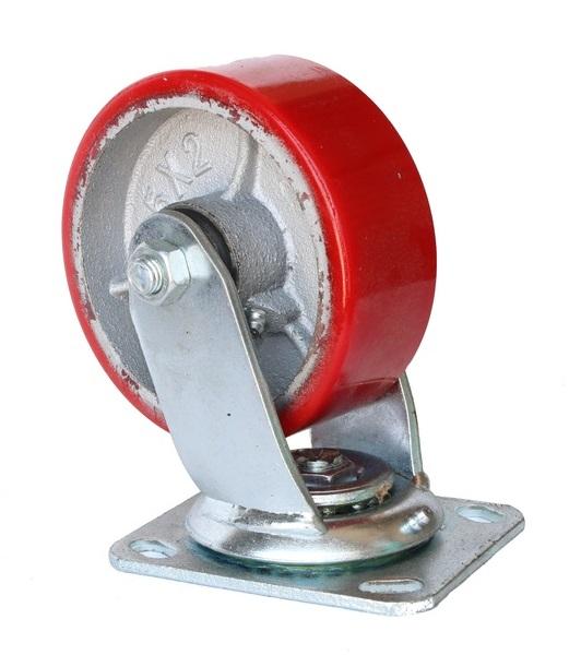 Колесо Swd proffПринадлежности для складского оборудования<br>Тип: колесо,<br>Материал: чугун,<br>Тип колеса: большегрузное,<br>Диаметр колес, мм: 160,<br>Способ крепления: платформенный,<br>Поворот: есть<br>
