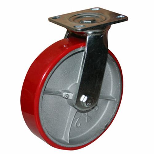 Колесо Swd proffПринадлежности для складского оборудования<br>Тип: колесо,<br>Материал: чугун,<br>Тип колеса: большегрузное,<br>Диаметр колес, мм: 200,<br>Способ крепления: платформенный,<br>Поворот: есть<br>