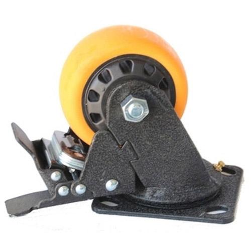 Колесо Swd proffПринадлежности для складского оборудования<br>Тип: колесо,<br>Материал: полиуретан,<br>Тип колеса: большегрузное,<br>Диаметр колес, мм: 200,<br>Способ крепления: платформенный,<br>Поворот: есть<br>