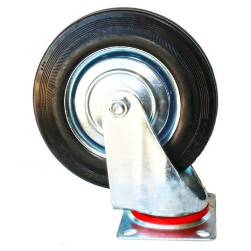 Колесо Swd proffПринадлежности для складского оборудования<br>Тип: колесо,<br>Материал: резина,<br>Тип колеса: промышленное,<br>Диаметр колес, мм: 200,<br>Способ крепления: платформенный,<br>Поворот: есть<br>