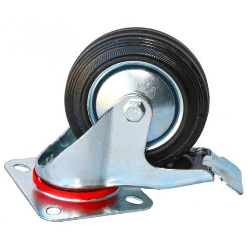 Колесо Swd proffПринадлежности для складского оборудования<br>Тип: колесо,<br>Материал: резина,<br>Тип колеса: промышленное,<br>Диаметр колес, мм: 250,<br>Способ крепления: платформенный,<br>Поворот: есть,<br>С тормозом: есть<br>