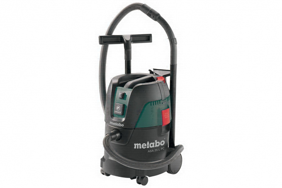 Промышленный пылесос MetaboПылесосы промышленные<br>Мощность: 1250,<br>Тип: пылесос,<br>Производительность (м3/ч): 21.6,<br>Макс. производительность пылесоса: 60,<br>Бак: 25,<br>Объем баков для чистой/грязной воды: 25/7л,<br>Длина кабеля: 7.5,<br>Система очистки фильтра: есть,<br>Разрежение: 21кПа,<br>Длина всасывающего шланга: 3.5м,<br>Диаметр всасывающего шланга: 32мм,<br>Моющий: есть<br>