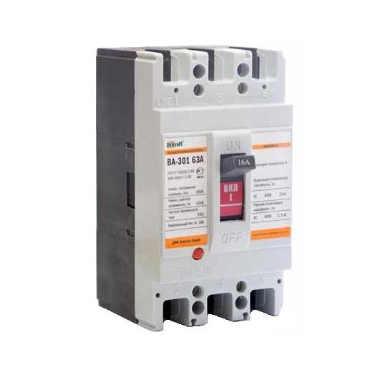 Выключатель DekraftАвтоматические выключатели<br>Номинальный ток: 63,<br>Тип выключателя: автомат,<br>Количество полюсов: 3,<br>Номинальная отключающая способность: 25000,<br>Степень защиты от пыли и влаги: IP 20,<br>Количество модулей: 3<br>