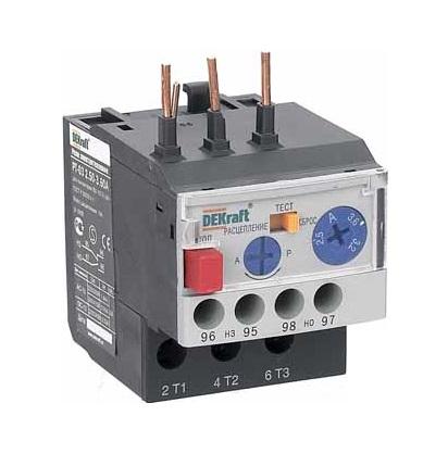 Реле DekraftАвтоматические выключатели<br>Номинальный ток: 9, Тип выключателя: реле, Количество полюсов: 1, Степень защиты от пыли и влаги: IP 20<br>