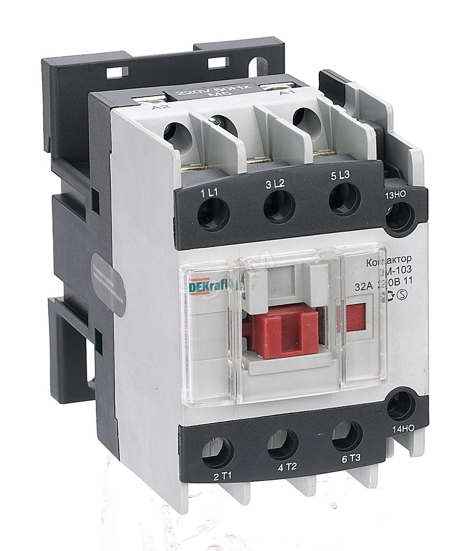 Контактор DekraftАвтоматические выключатели<br>Номинальный ток: 32,<br>Тип выключателя: контактор,<br>Количество полюсов: 1,<br>Степень защиты от пыли и влаги: IP 20<br>