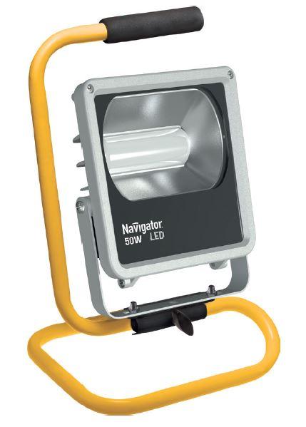Прожектор NavigatorПрожекторы<br>Мощность: 50,<br>Количество ламп: 1,<br>Тип лампы: светодиодная,<br>Патрон: LED,<br>Цвет арматуры: цветной,<br>Степень защиты от пыли и влаги: IP 65,<br>Угол обзора: 70,<br>Тип: переносной,<br>Назначение прожектора: промышленный,<br>Цветовая температура: 4000<br>