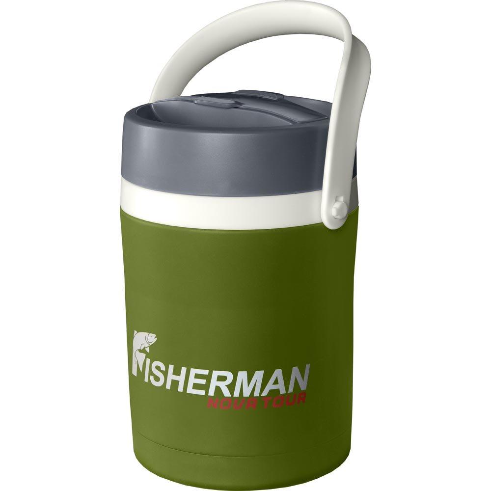 Термос Fisherman nova tourТермосы и термокружки<br>Тип термопосуды: термос,<br>Размер горловины: широкое горло,<br>Цвет: хаки,<br>Материал: нерж.сталь<br>