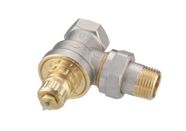 Клапан DanfossАрматура для труб<br>Материал фитинга: латунь, Тип трубного соединения: резьба, Назначение арматуры: клапан, Присоединительный размер: 1/2  <br>