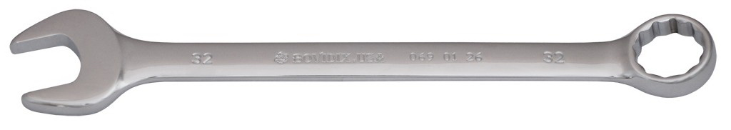 Ключ гаечный комбинированный BovidixКлючи гаечные<br>Тип: комбинированный,<br>Длина (мм): 350,<br>Размер ключа максимальный: 32<br>