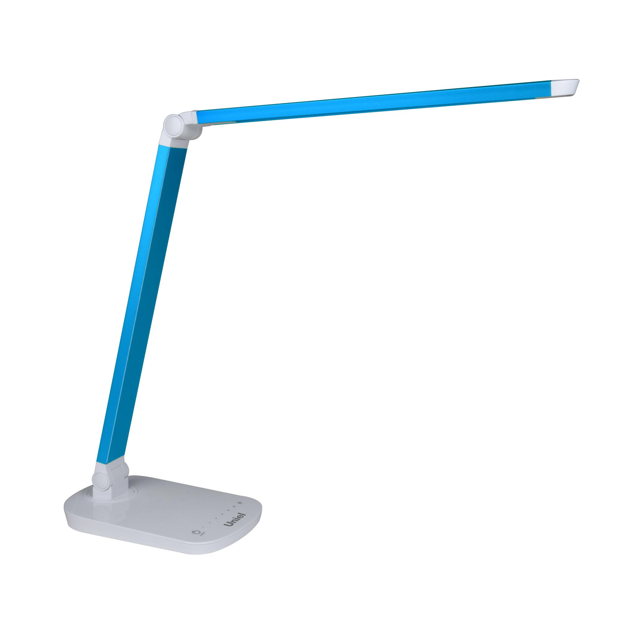 Лампа настольная UnielЛампы настольные<br>Тип настольной лампы: ученическая/офисная,<br>Назначение светильника: офисный,<br>Стиль светильника: модерн,<br>Тип лампы: светодиодная<br>