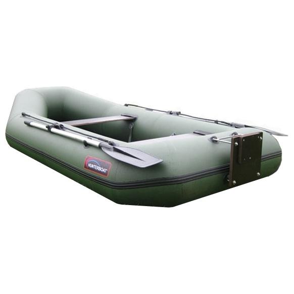 Лодка HunterboatЛодки надувные<br>Тип: лодка,<br>Тип лодки: моторно-гребная,<br>Тип дна: надувное,<br>Материал: ПВХ,<br>Плотность ткани: 750,<br>Максимальная нагрузка: 220,<br>Количество посадочных мест: 2+1<br>