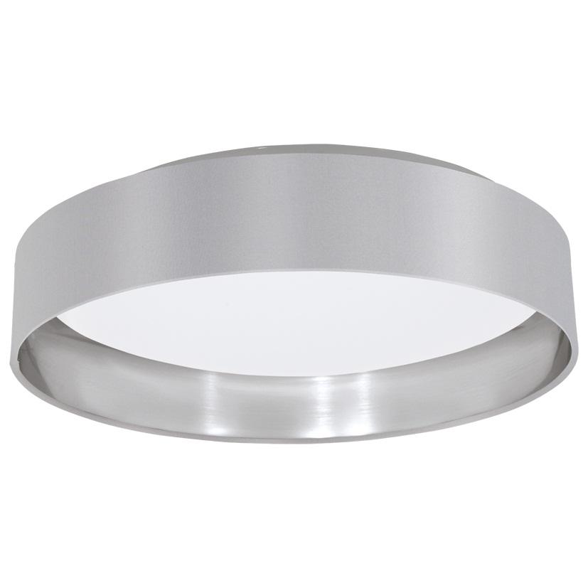 Светильник EgloСветильники настенно-потолочные<br>Мощность: 18,<br>Назначение светильника: для комнаты,<br>Стиль светильника: современный,<br>Материал светильника: металл, пластик, ткань,<br>Тип лампы: светодиодная,<br>Длина (мм): 82,<br>Диаметр: 405,<br>Патрон: LED,<br>Цвет арматуры: белый,<br>Вес нетто: 1.32<br>