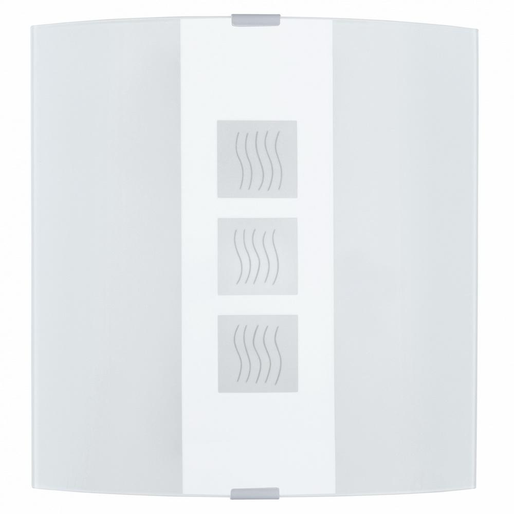 Светильник настенно-потолочный EgloСветильники настенно-потолочные<br>Мощность: 60,<br>Количество ламп: 1,<br>Назначение светильника: для комнаты,<br>Стиль светильника: модерн,<br>Материал светильника: металл, стекло,<br>Тип лампы: накаливания,<br>Длина (мм): 180,<br>Ширина: 210,<br>Патрон: Е27,<br>Цвет арматуры: белый<br>
